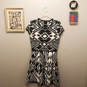 NWT Parker fit and flare geometric dress